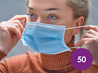 50 x Disposable 3 ply Face Masks