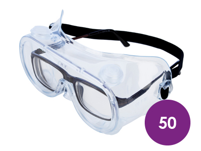 50 x Lightweight Safety Goggles